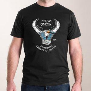 T-Shirt noir pour homme avec logo devant